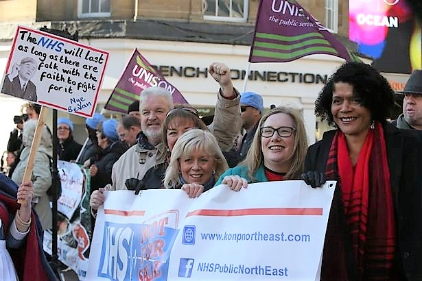 Five MPs at Newcastle Rally