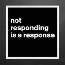 Not responding 2