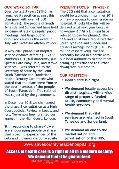 South Tyneside 2019-09-08-information_leaflet-save_our_vital_services-page-1